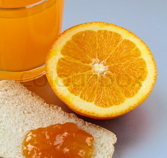 Oranges Whole with Orange Juice in A Glass